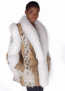 Lynx Jacket - Lynx Fur Jacket with Fox Trim