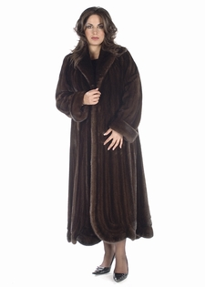 Mink Coat - Plus Size Swirl Panel