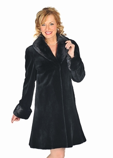 Sheared Mink Fur Jacket - Empire Style