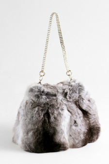 Chinchilla Fur Evening Bag