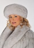 Fur Headband - Blue Fox Fur Headwrap