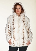 Plus Size Zippered Mink Jacket - Winter Birch Mink