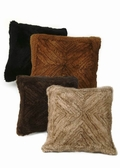 Mink Fur Pillow-Knitted Mink Pillow