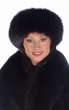 Fur Headband - Black Fox