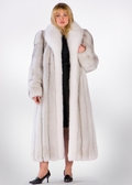 Fox Coat - Natural White Natural Blue Plus Size