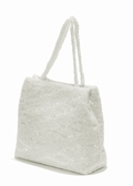 White Sequined Evening Bag - Bridal Evening Bag