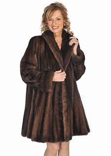 Soft Brown Mink Jacket-Flirty Flare Mink Stroller