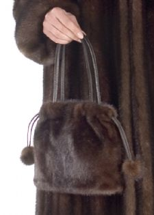 Mink Fur Handbag - Mahogany Mink Pocketbook