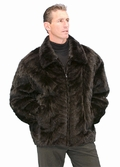 Mens Mink Paw Jacket -Mens Black Mink Jacket