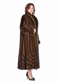 Mink Coat Soft Brown-Cathedral Panels-Plus Size