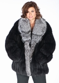 Black Fox Jacket Silver Fox Shawl Collar-29