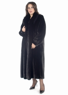 Mink Coat - Plus Size Ranch Fox Trimmed