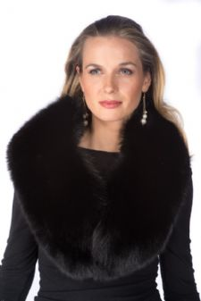 Fur Collar - Black Fox Collar