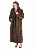 Mink Coat-Soft Brown Brushstrokes Design Plus Size
