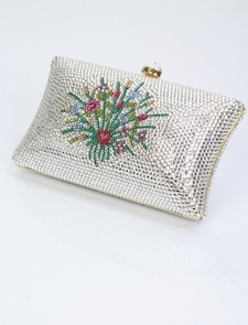 Evening Bag - Swarovski Crystal Floral Design