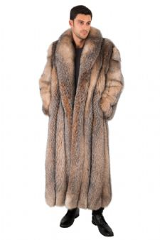 Men's Crystal Fox Coat - Man's Fox Fur Coat