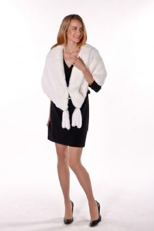 White Rabbit Fur Cape Stole