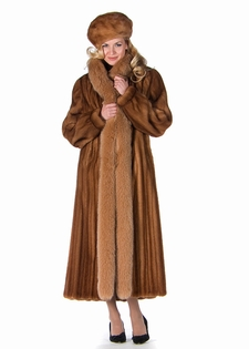 Mink Coat - Golden Mink Gold Fox Trim