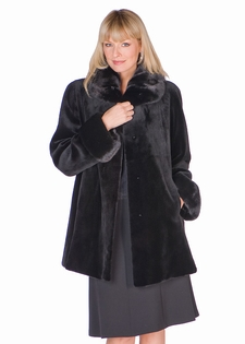 Sheared Mink Jacket-European Collar Cuffs