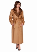 Cashmere Coat-Chinchillette� Trim- Taupe Cashmere