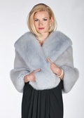 Mink Cape - Twilight Grey Mink and Fox Cape