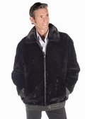 Mens Sheared Mink Jacket - Leather Reversible