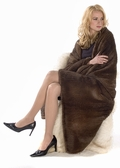 Mink Fur Blanket- Knitted Mink Throw Bedspread