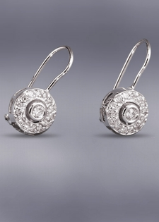Diamond Drop Earrings - Venetian Design
