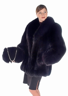 Fox Fur Jacket - Black Fox 29