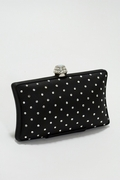 Satin and Swarovski Crystal Dotted Evening Bag
