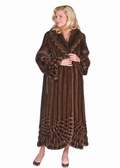 Mink Coat - Pleated Panorama Soft Brown Mink