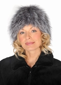 Silver Fox Stretch Hat - Stretch Fur Hat