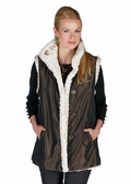 Mink Vest Reversible to Fabric - Winter Birch Mink