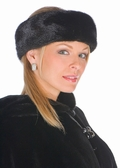 Mink Headband-Black Mink Headwrap