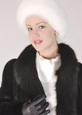 Headband - White Fox Adjustable Headband