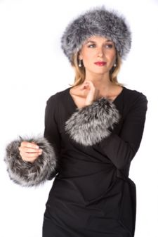 Fur Cuffs - Silver Fox Cuffs