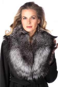 Fur Collar - Silver Fox Collar