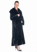 Sheared Mink Coat - Large Ruffled Collar