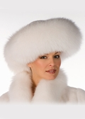 White Fox and Mink Fur Hat-Large Brim Fur Hat