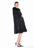 Sheared Mink Jacket-Scalloped Mink Designs