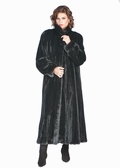 Mink Fur Coat Ranch Classic Wing Collar Plus Size